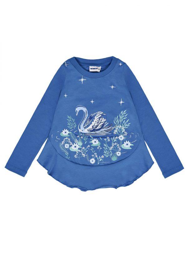 Tričko s dlouhým rukávem Swan Modrá
