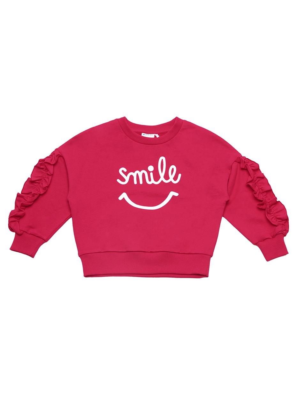 Dívčí mikina Smile Malinová