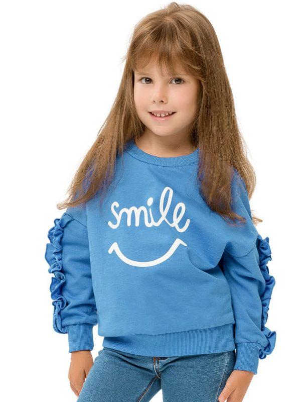 Dívčí mikina Smile Modrá
