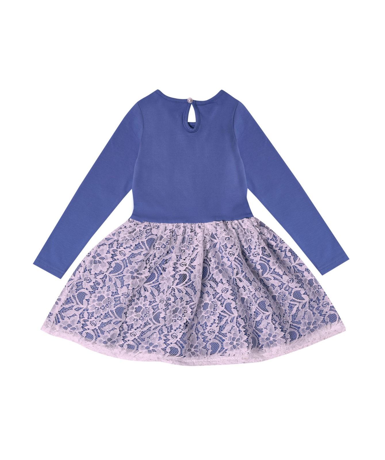 Dívčí šaty Beautiful Modrá/Bílá