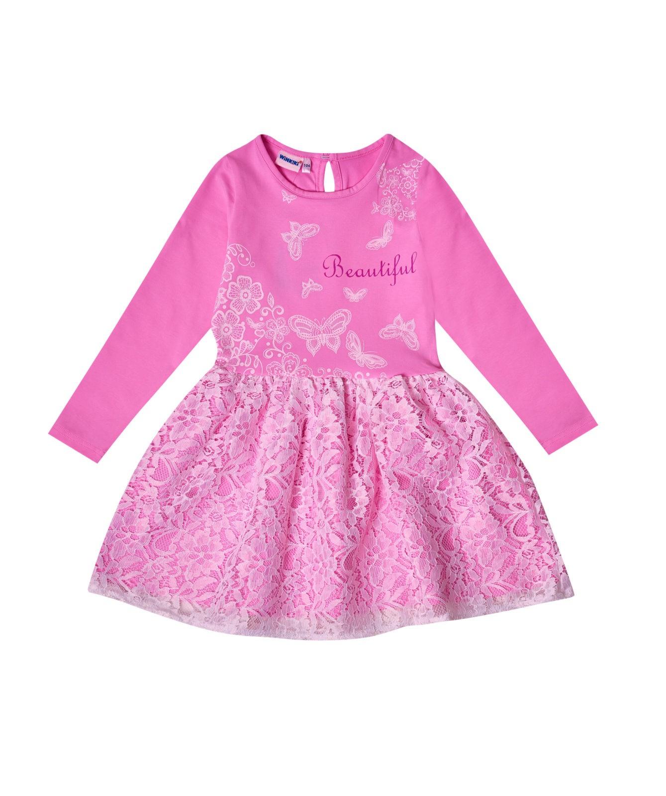 Dívčí šaty Beautiful Růžová/Bílá