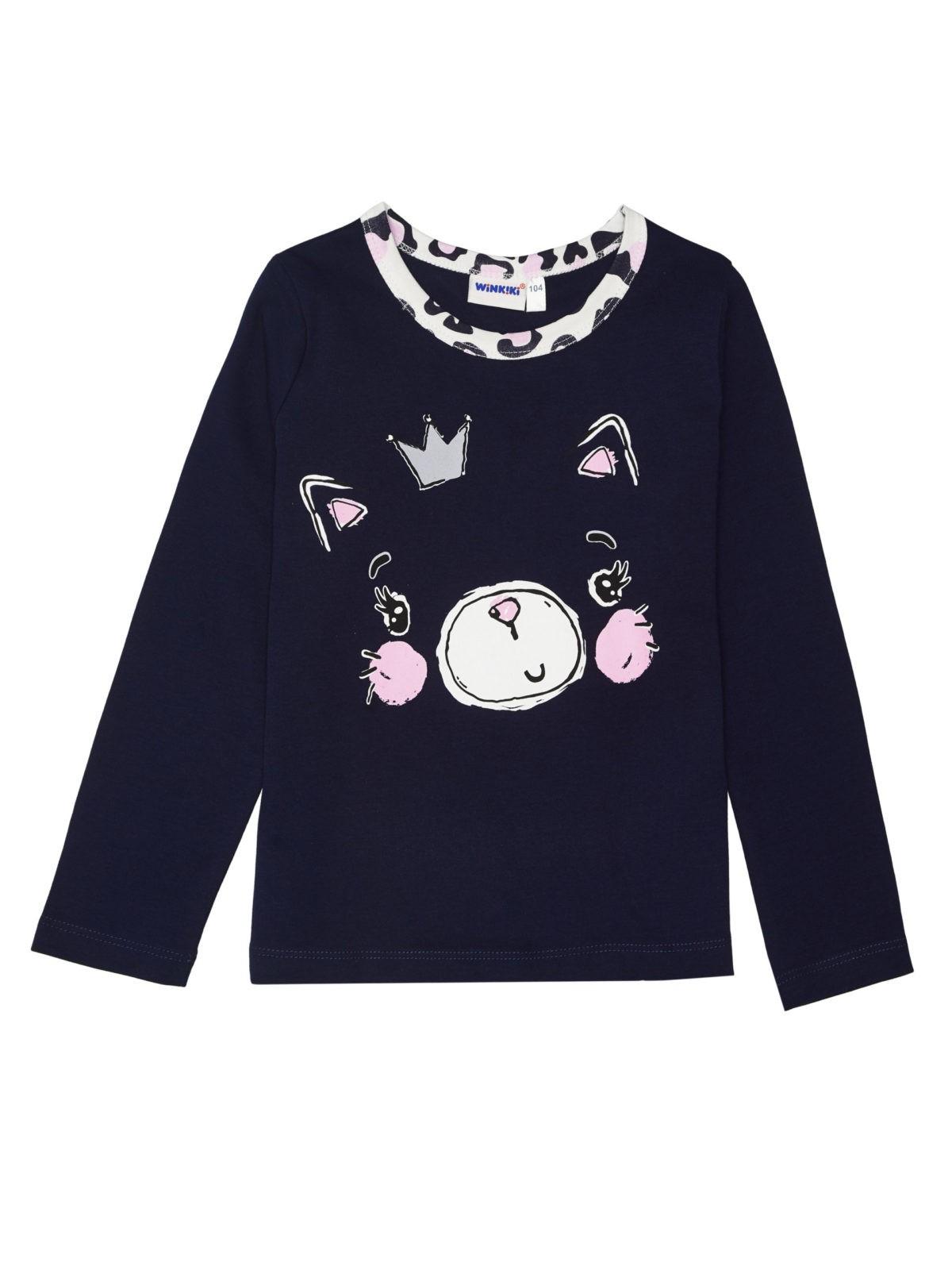Dívčí pyžamo Cat Navy/Bílá