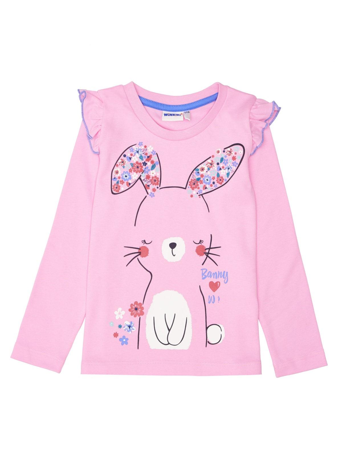 Dívčí pyžamo Bunny Růžová/Modrá