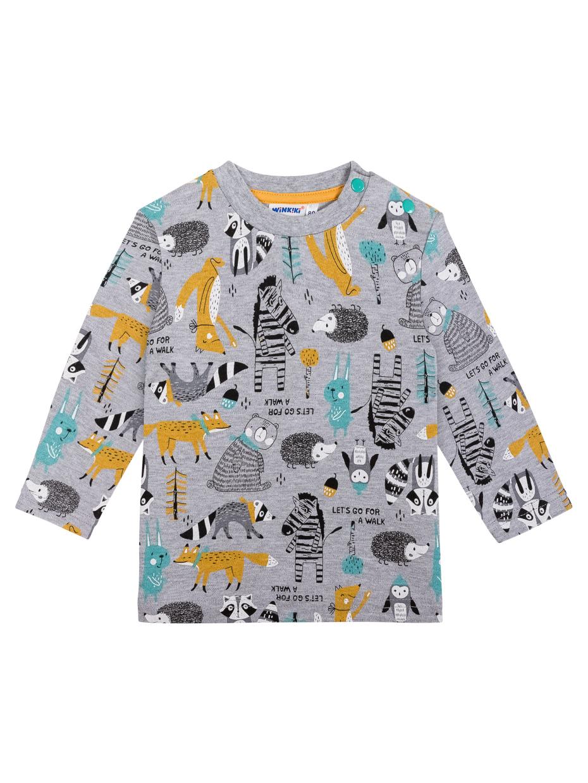 Chlapecké tričko s dlouhým rukávem Forest Šedý melanž