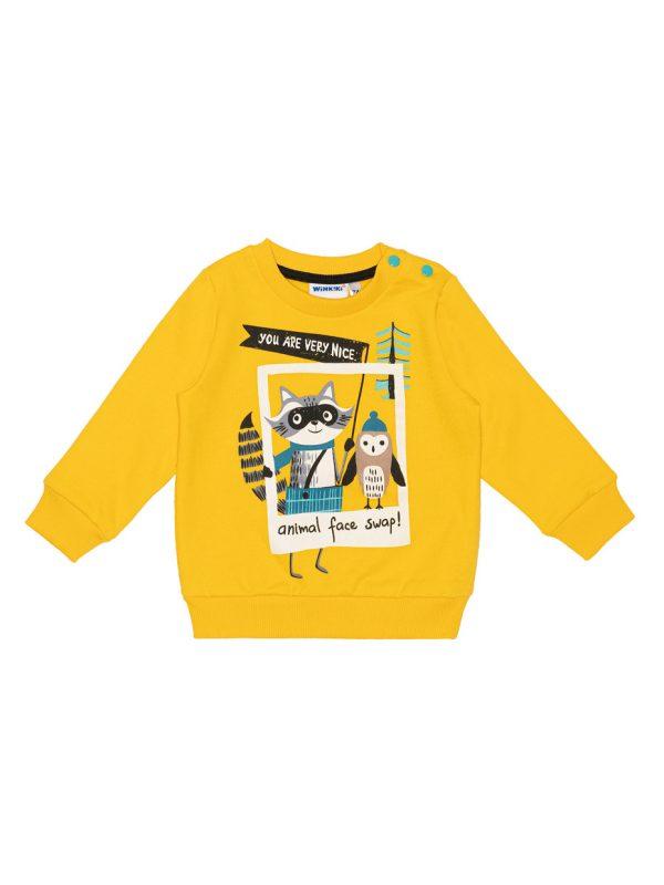 Chlapecká mikina Animal Žlutá