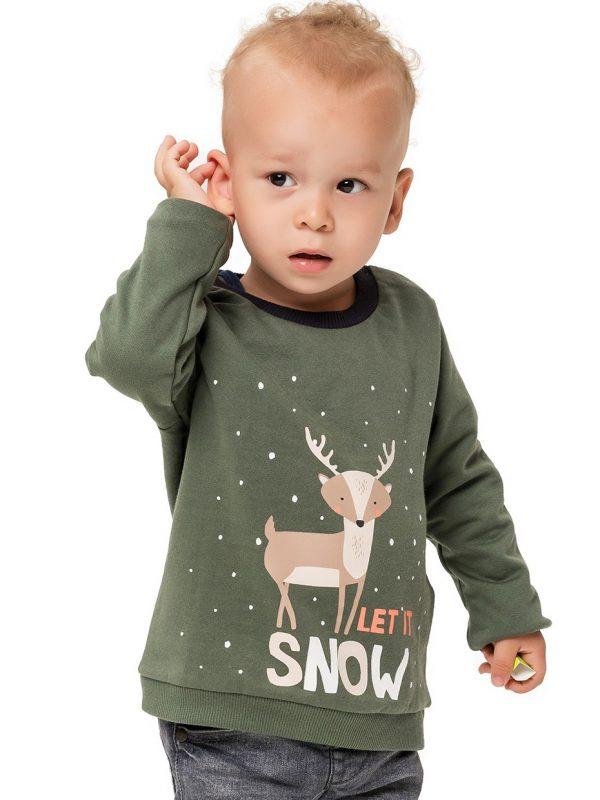 Chlapecká mikina Snow Khaki