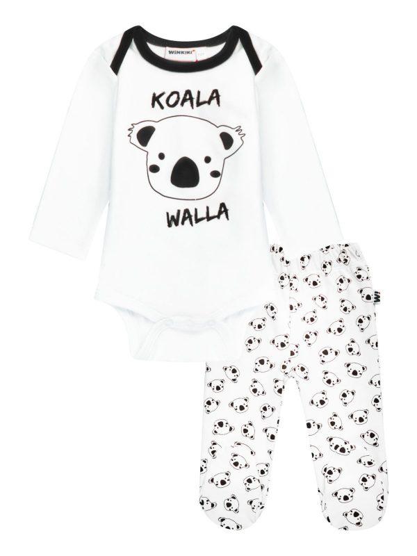 Chlapecké body s tepláčkami KOALA Bílá