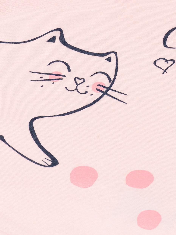 Dívčí růžové tričko Cute Cat Růžová