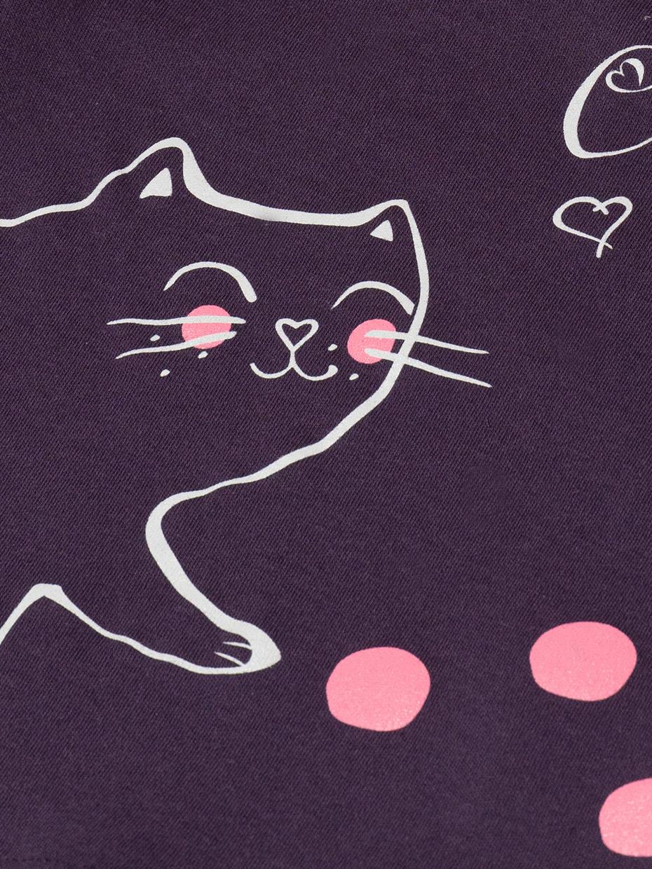 Dívčí fialové tričko Cute Cat Fialová