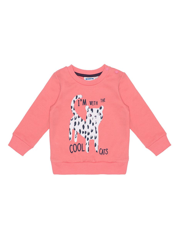 Dívčí mikinka Cool Cats Růžová