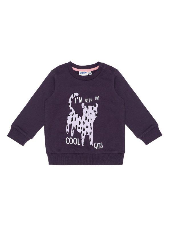 Dívčí fialová mikinka - Cool Cats Fialová