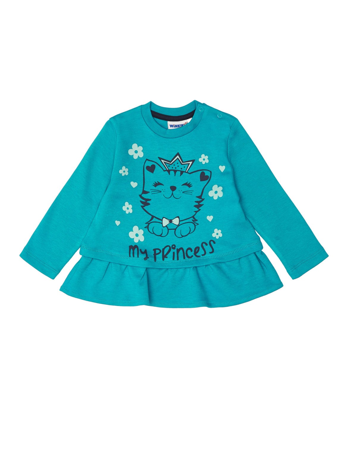 Dívčí tričko My Princess Tyrkysová