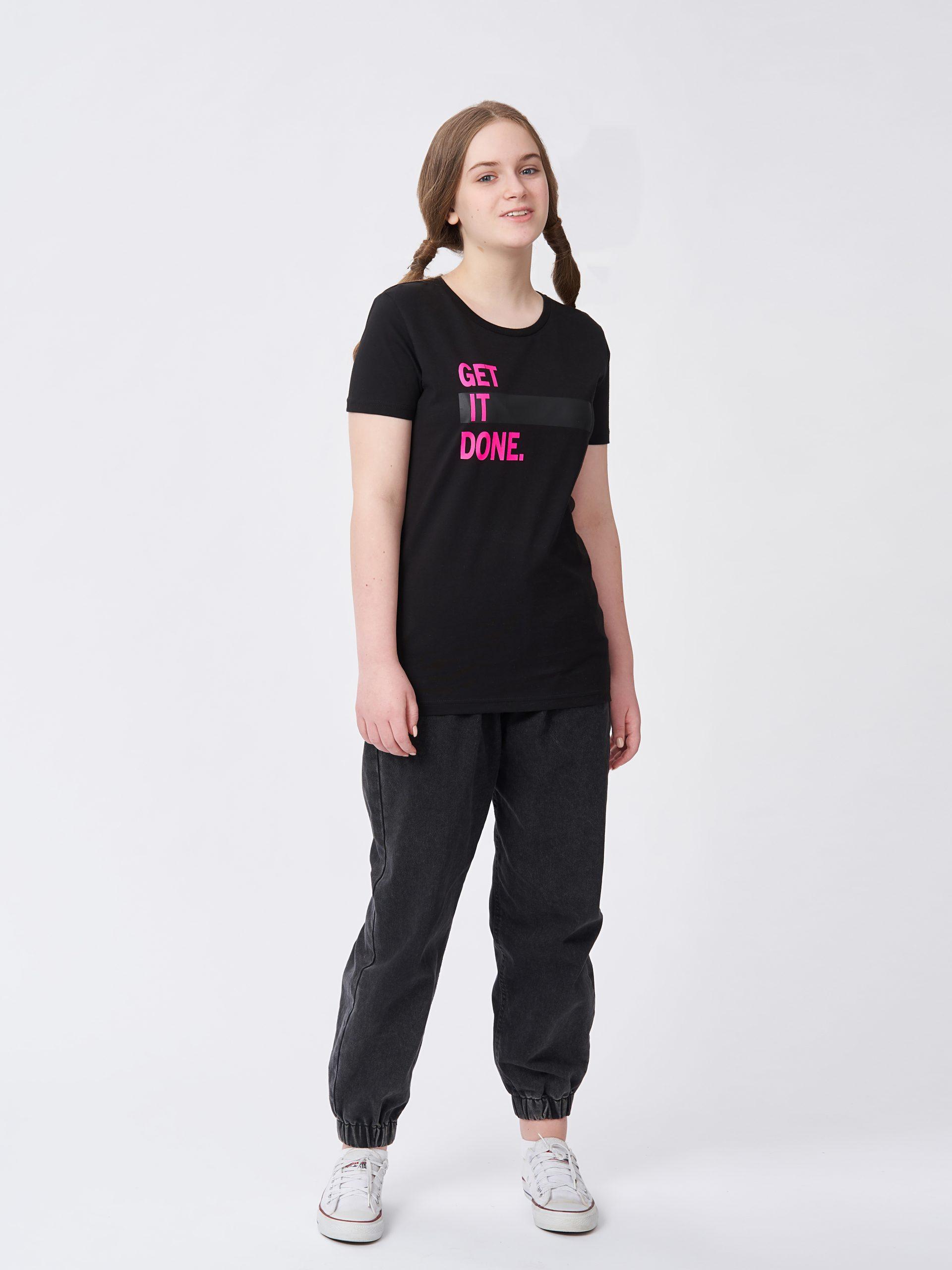Dívčí tričko Get it done Černá