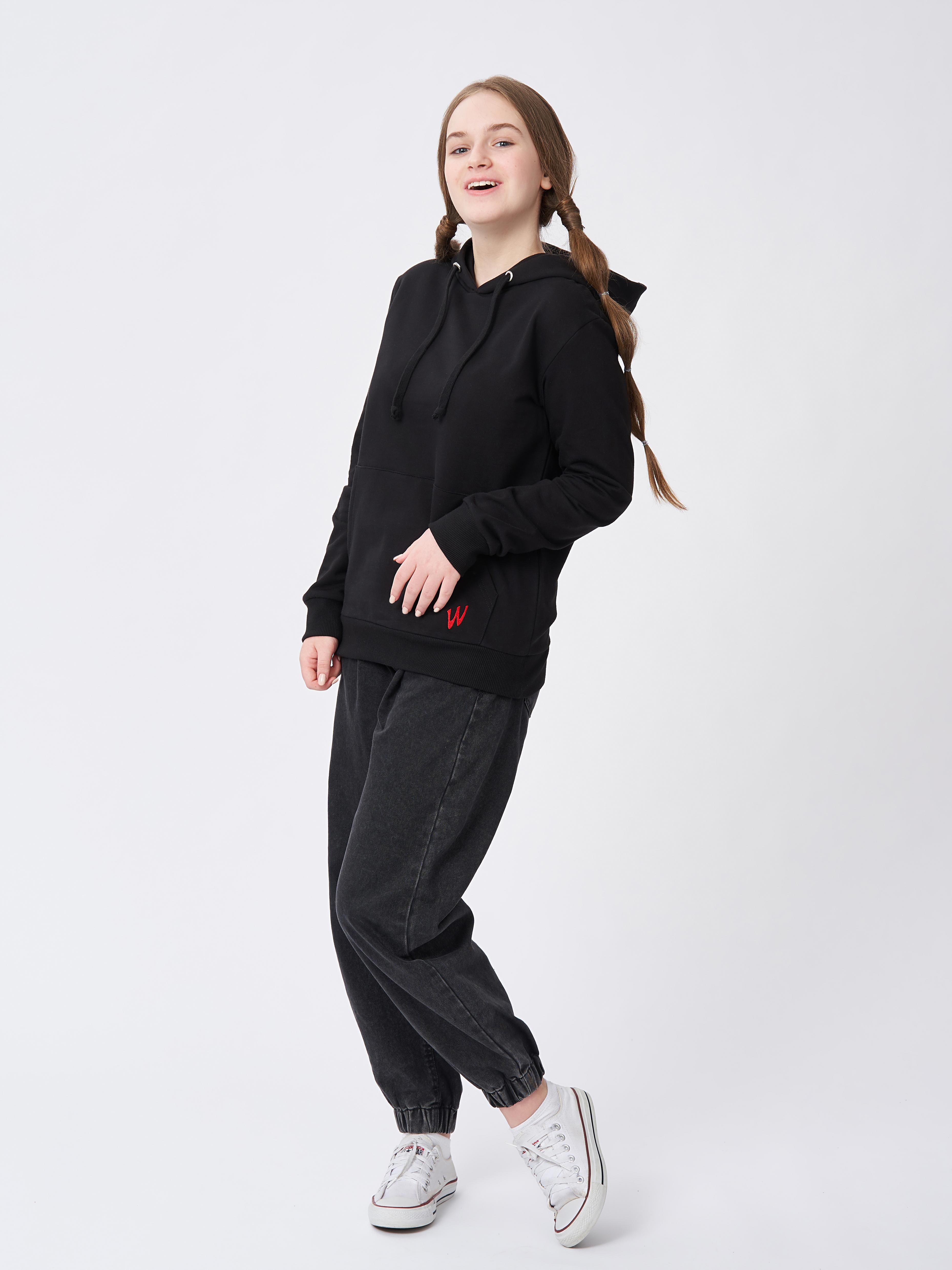 Dívčí mikina W Černá