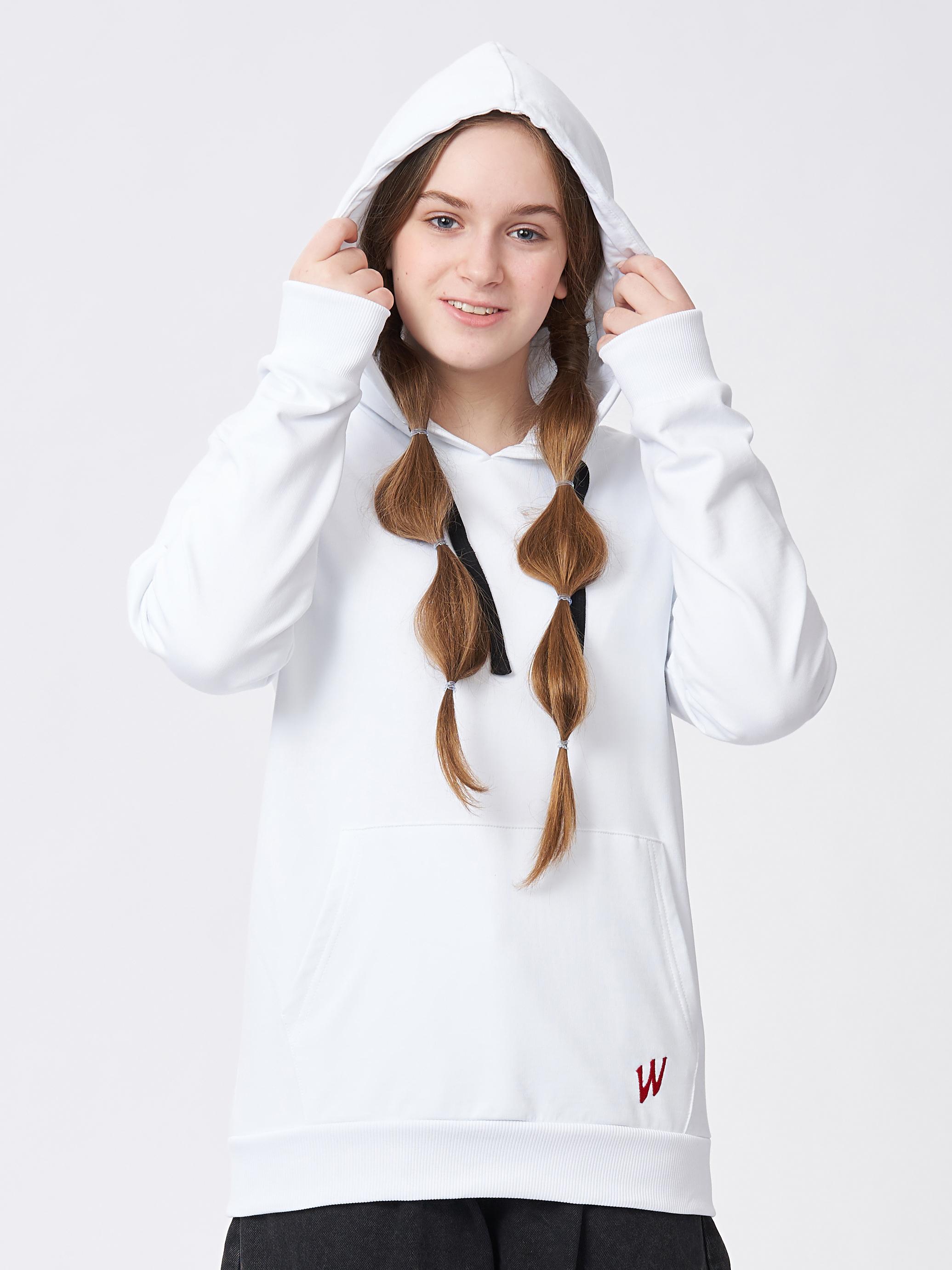 Dívčí mikina W Bílá