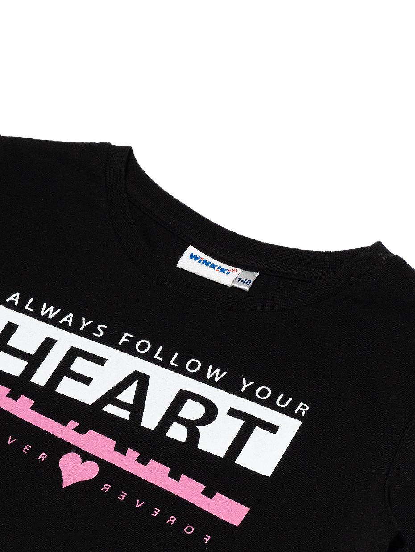 Dívčí tričko Heart Černá