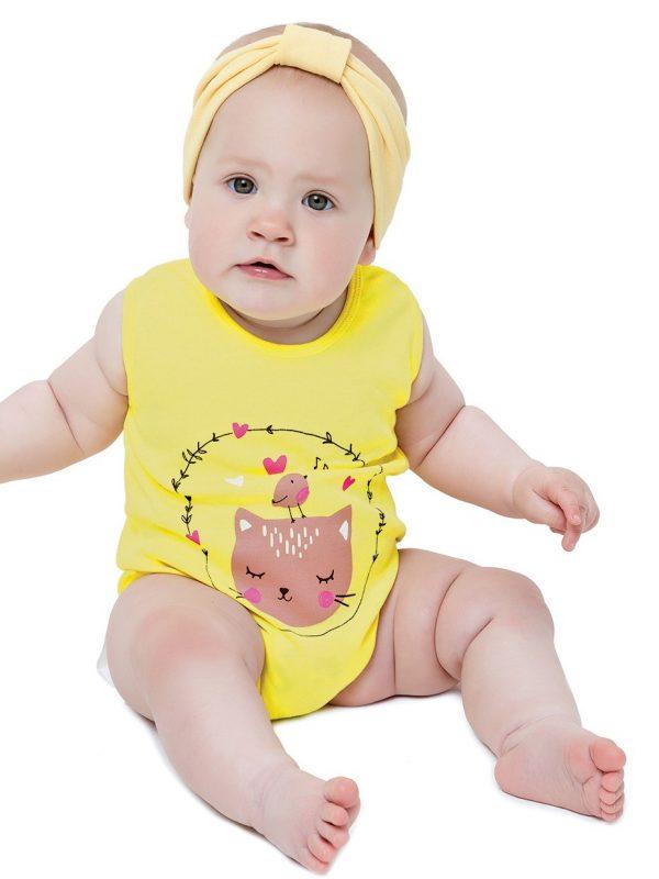 Dívčí body Cat Žlutá