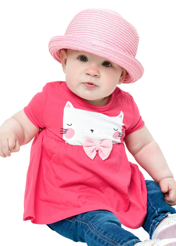Dívčí šaty Cat Fuchsie