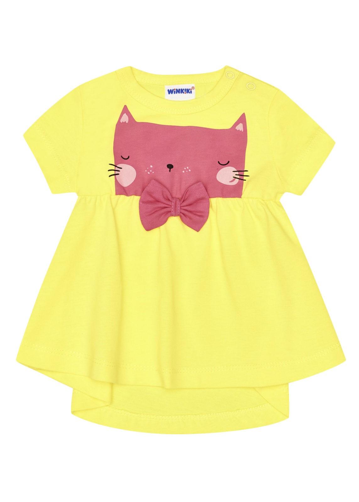 Dívčí šaty Cat Žlutá