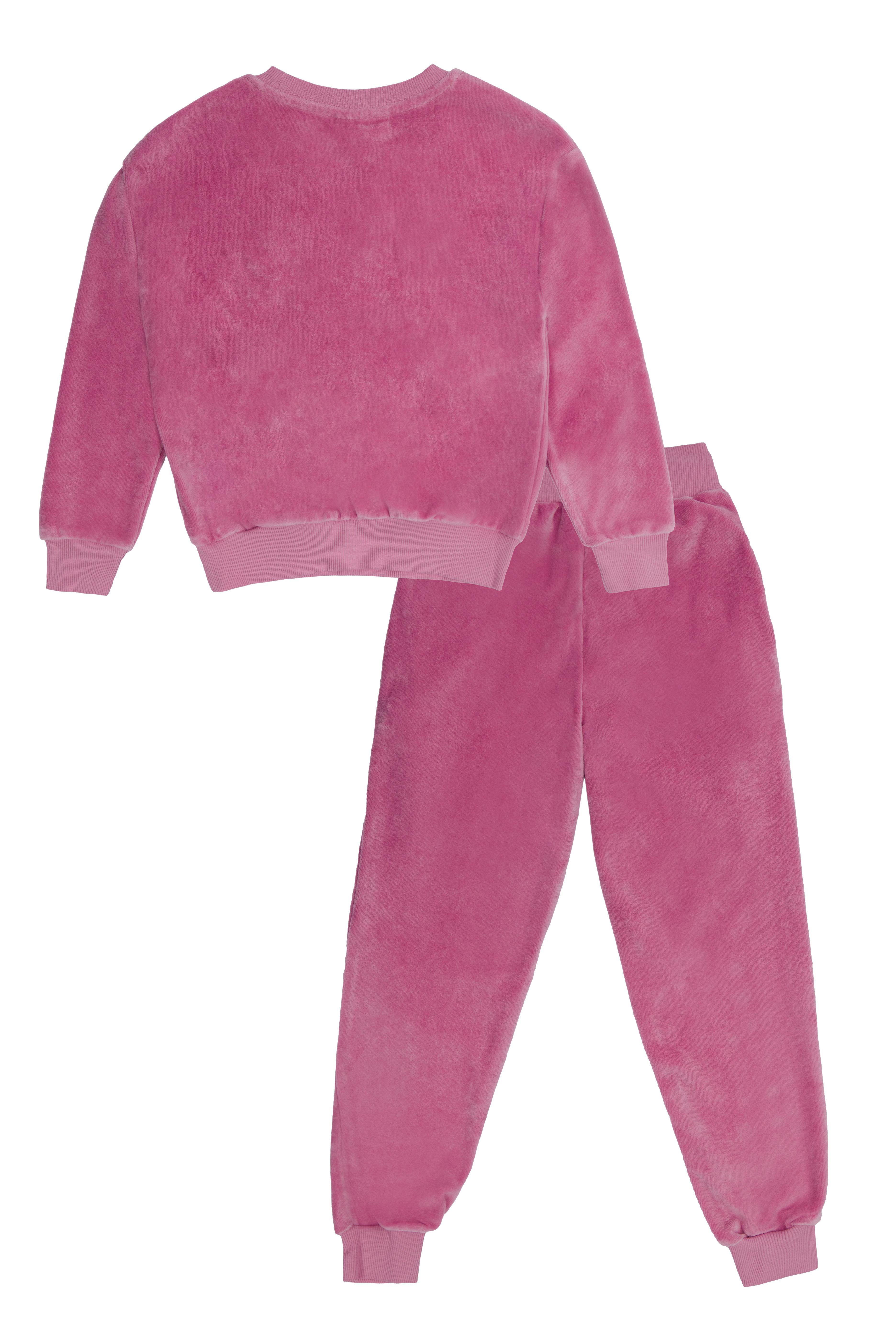 Winkiki velurový set - tmavě růžový Růžová