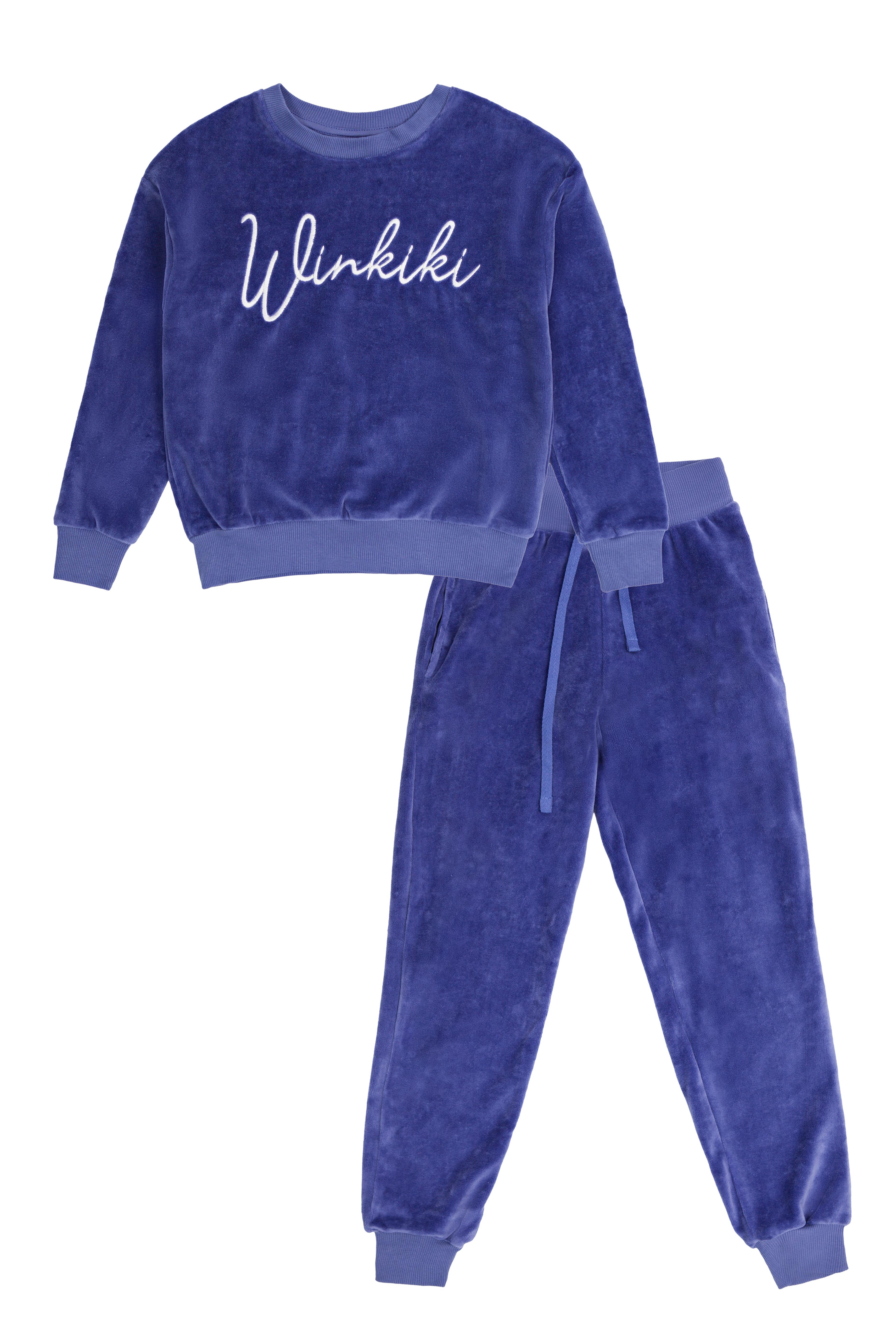 Winkiki velurový set - Lilac Liliová