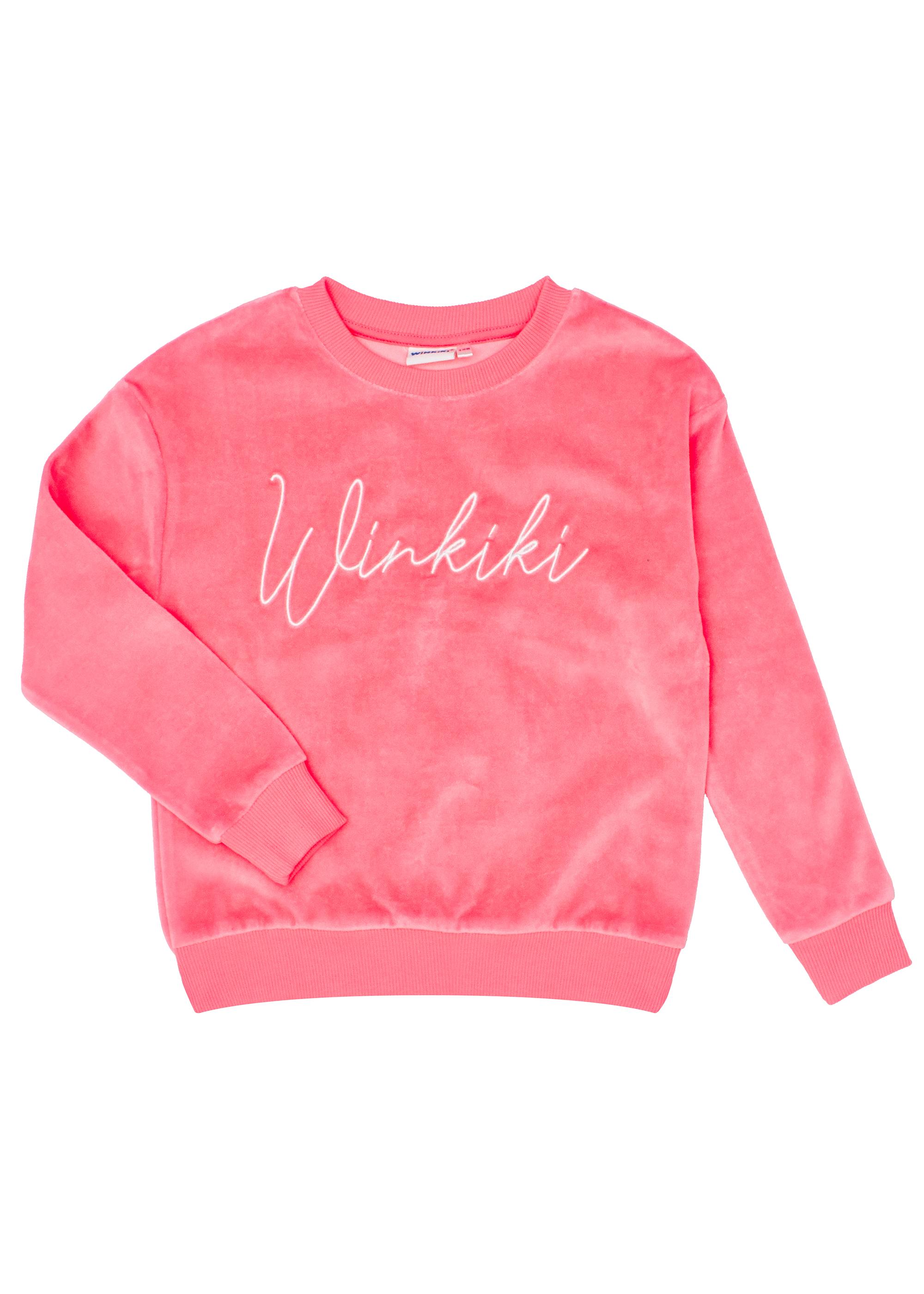 Winkiki velurový set - růžový Růžová