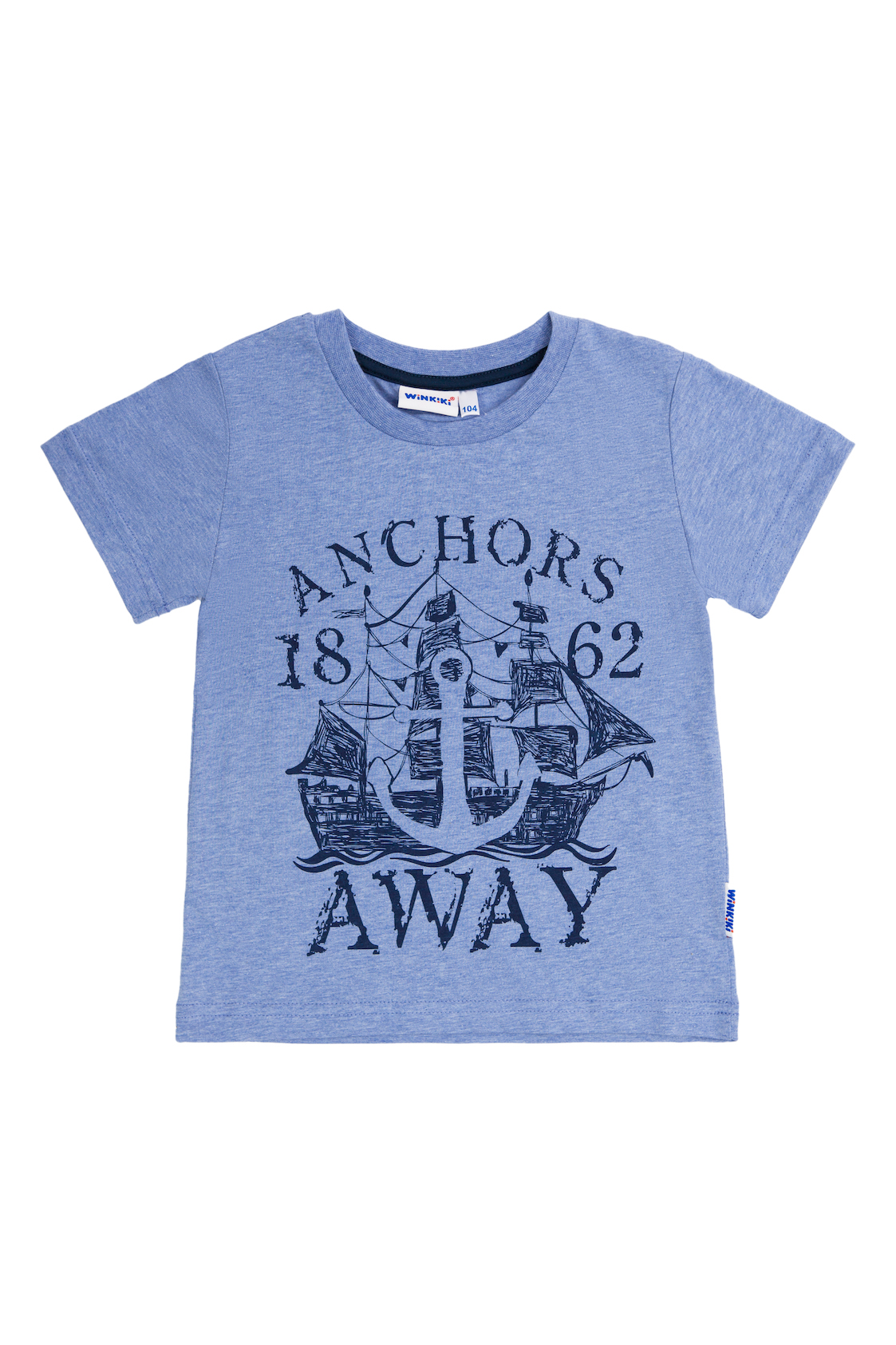 Chlapecké tričko Away Modrý melanž