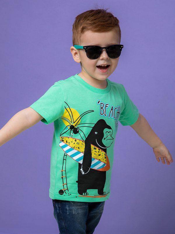 Chlapecké tričko Beach - zelené Zelená