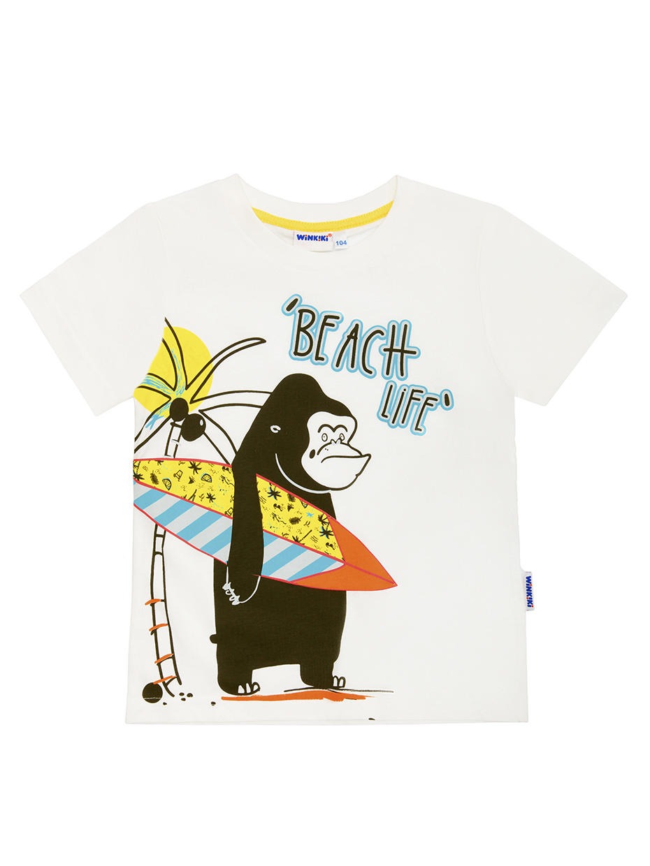 Chlapecké tričko Beach - bílé Bílá