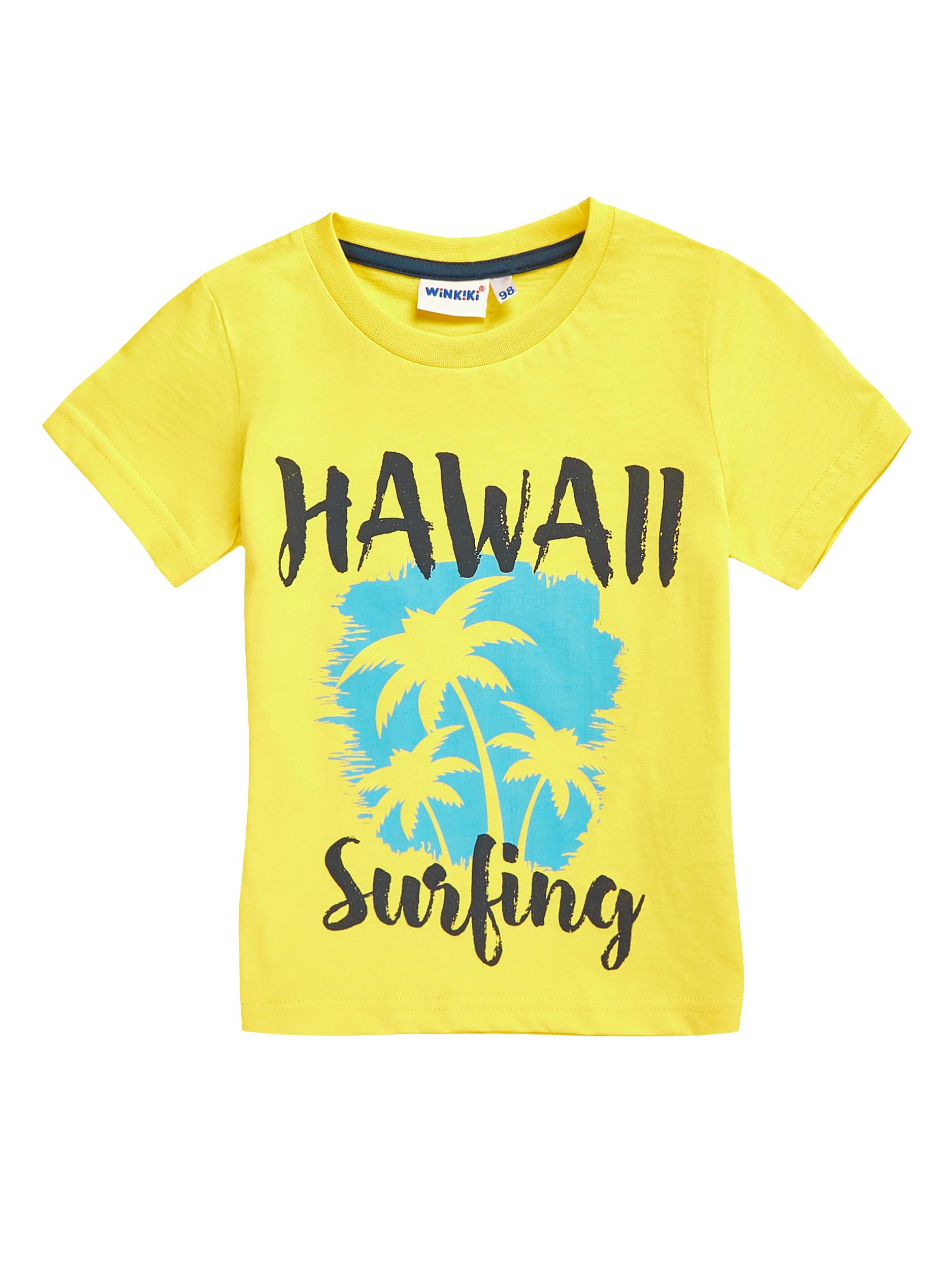 Chlapecké tričko Hawaii - žluté Žlutá
