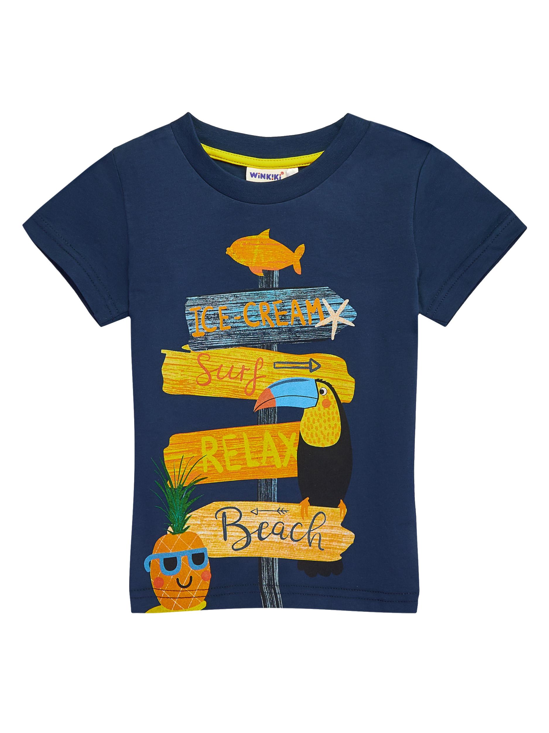 Chlapecké tričko Beach Navy