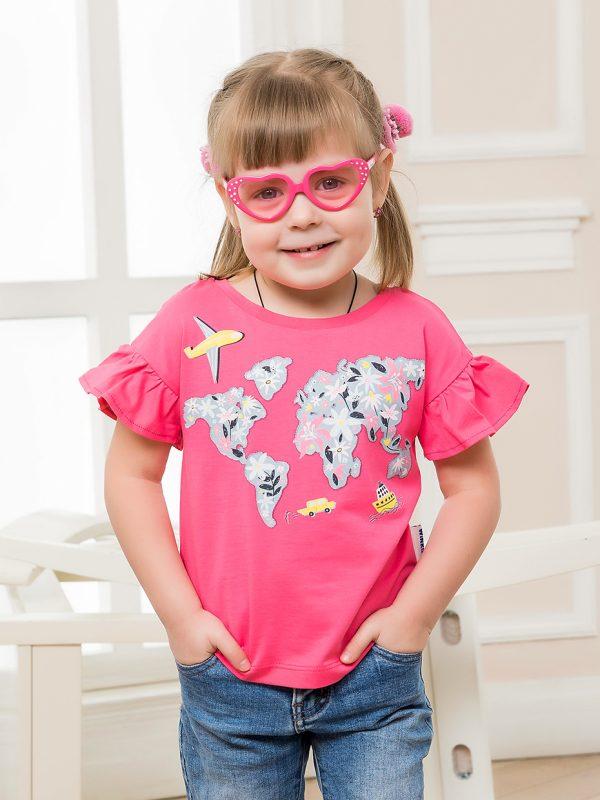 Dívčí tričko World Růžová