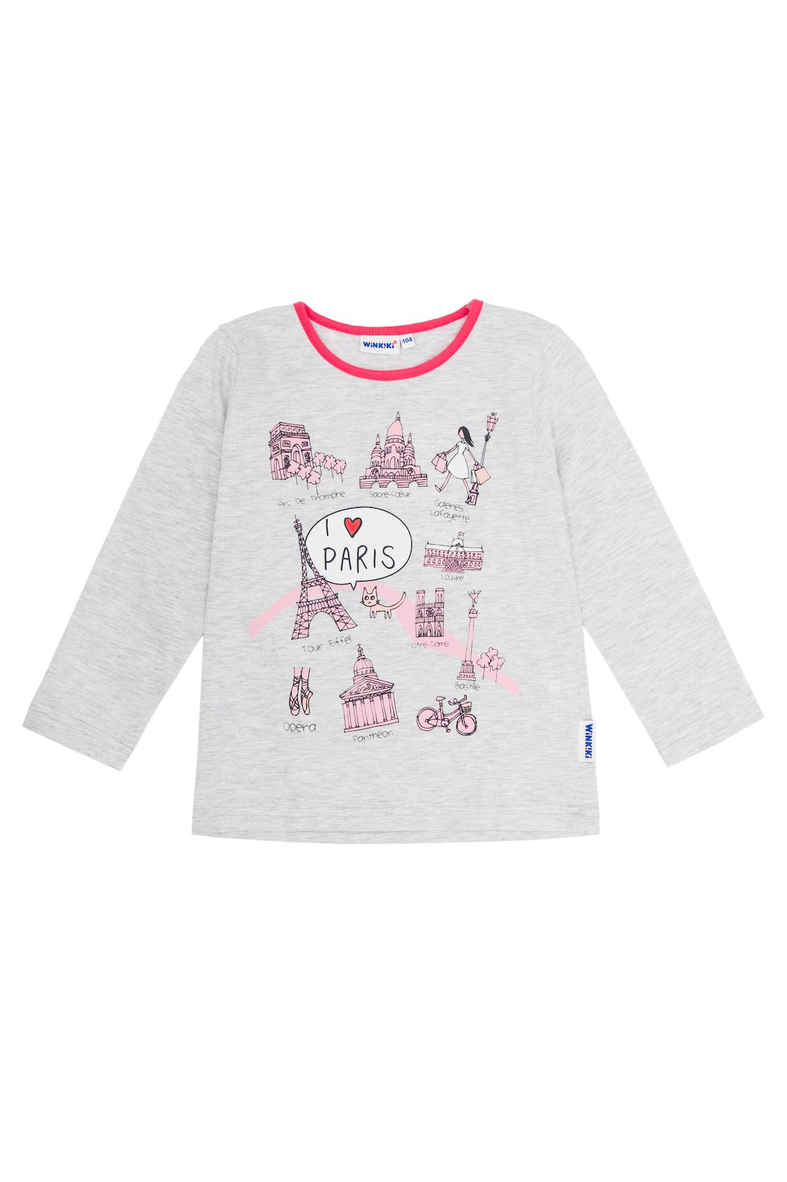 Dívčí tričko Paris Šedý melanž