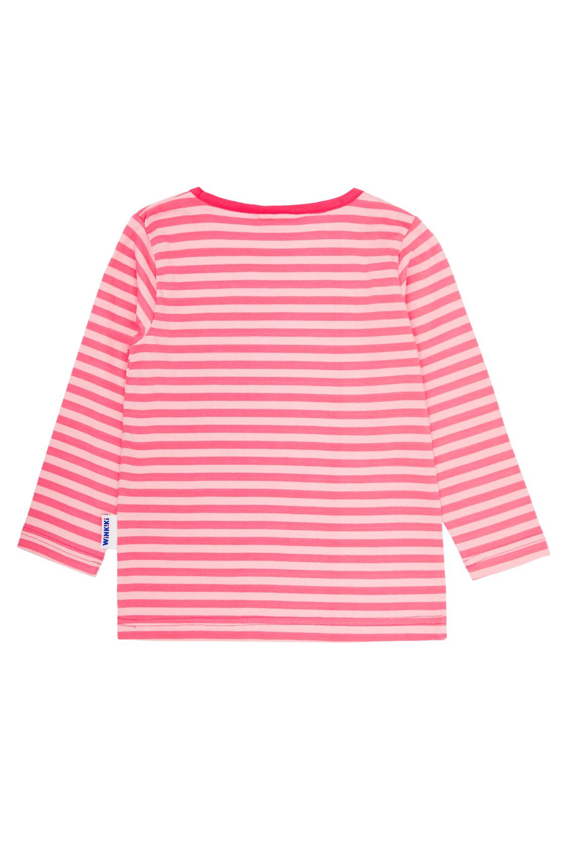 Dívčí tričko Tropical Růžová - pruhy