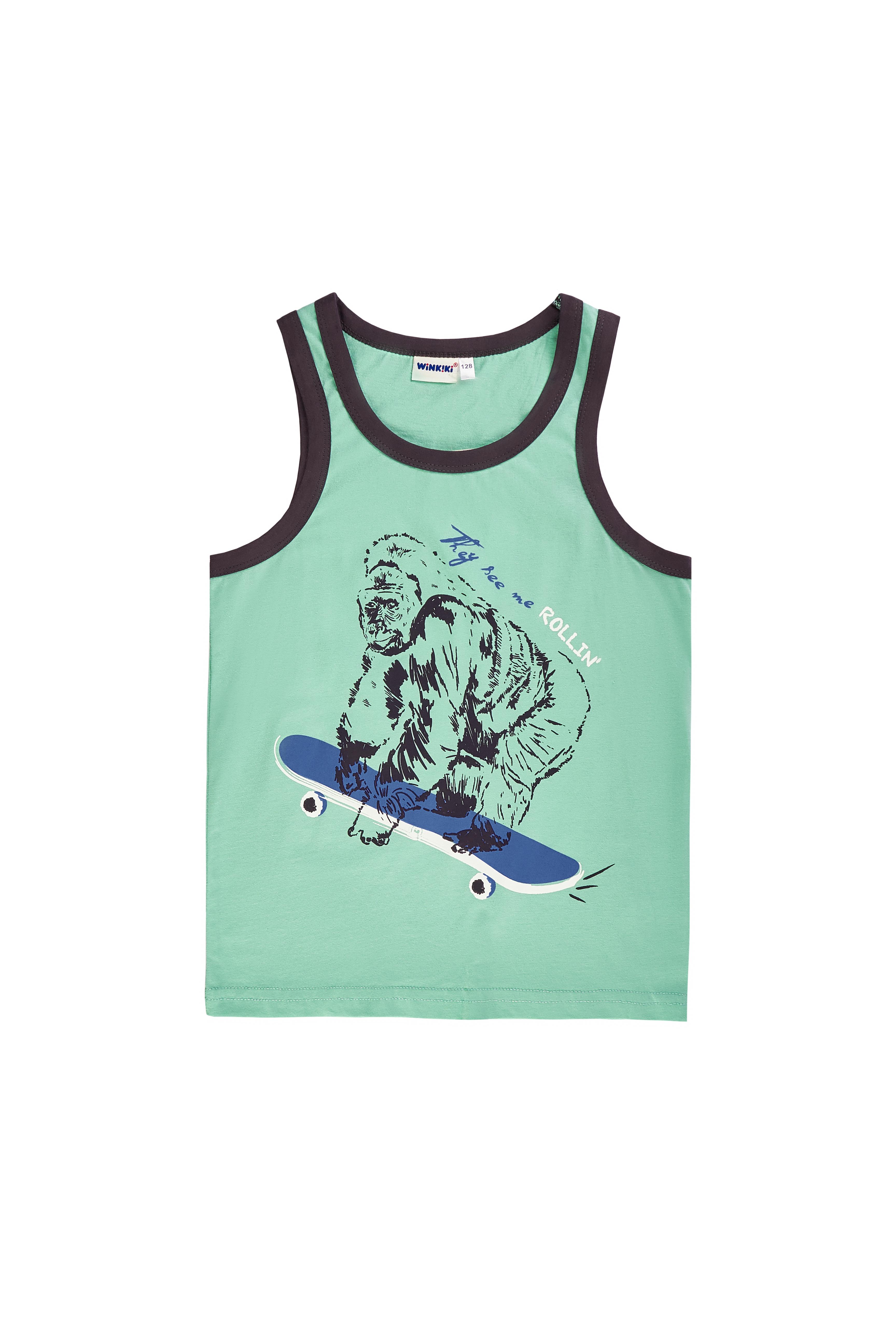 Chlapecké tílko Gorilla - modrá Bílá, Tmavě modrá, Zelená