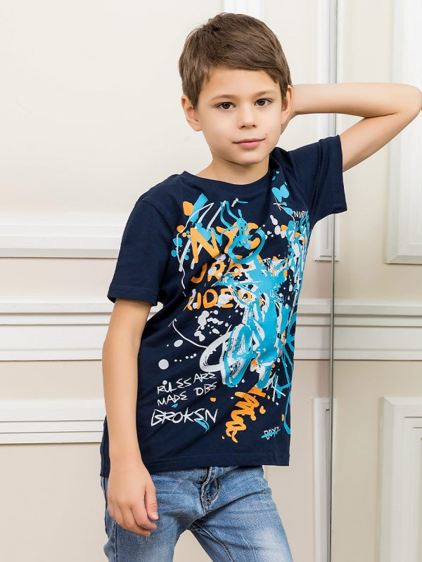 Chlapecké tričko Urban Riders - NAVY Navy, Zelená
