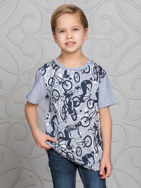 Chlapecké tričko Bikes - šedá Šedý melanž