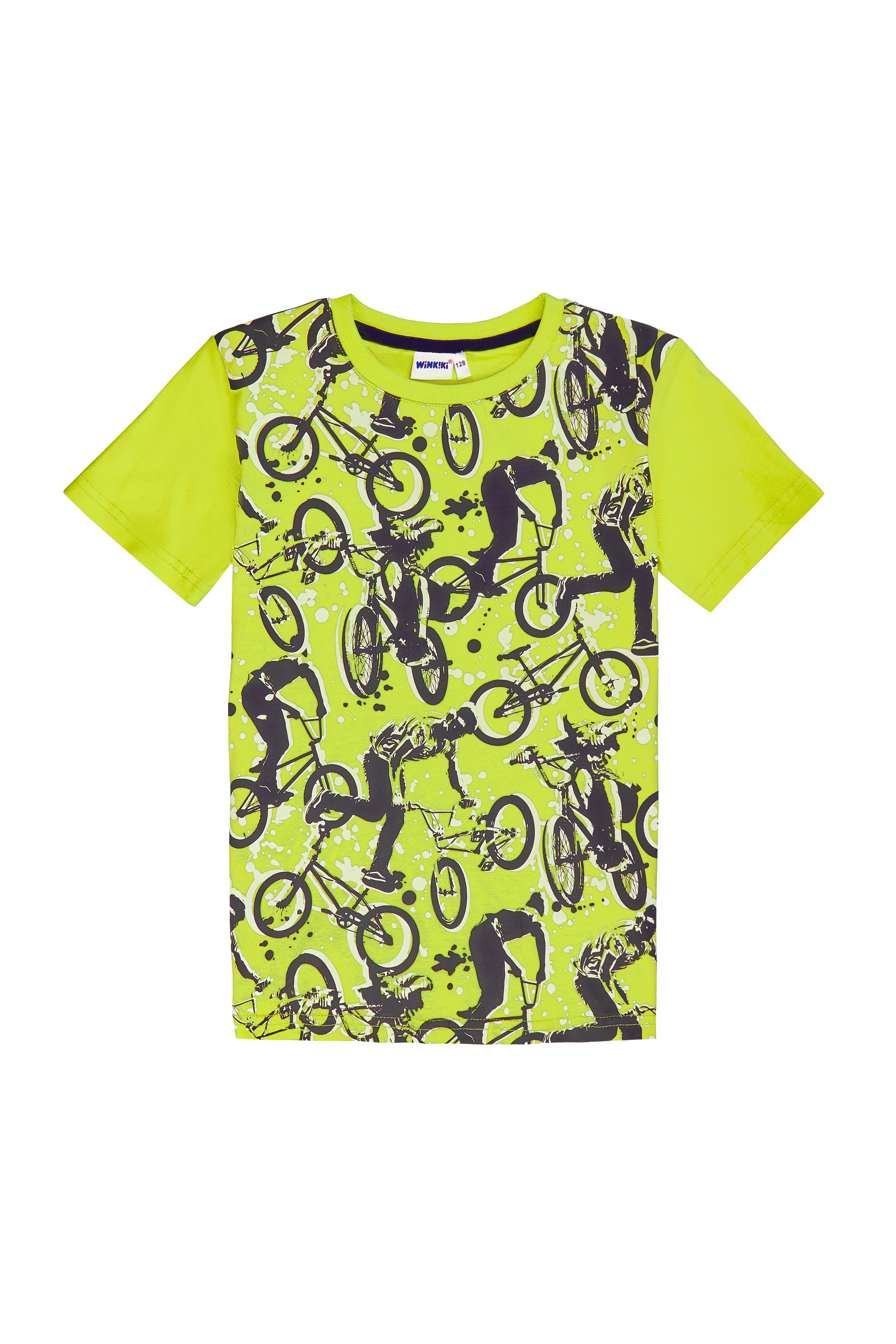 Chlapecké tričko Bikes - salátová Salátová