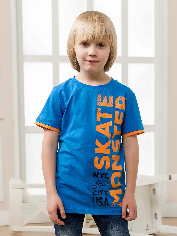 Chlapecké tričko Skate Monster - modrá Oranžová, Tmavě modrá
