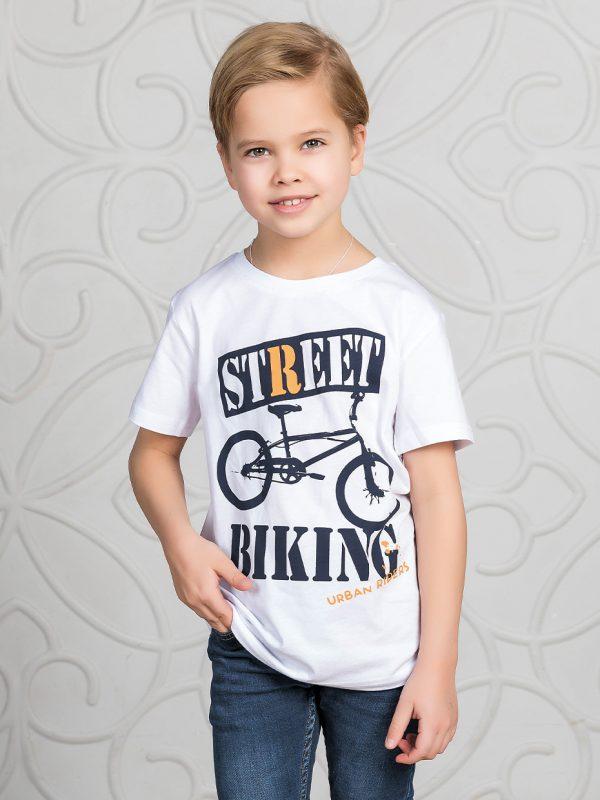 Chlapecké tričko Street Biking - bílá Bílá, Khaki