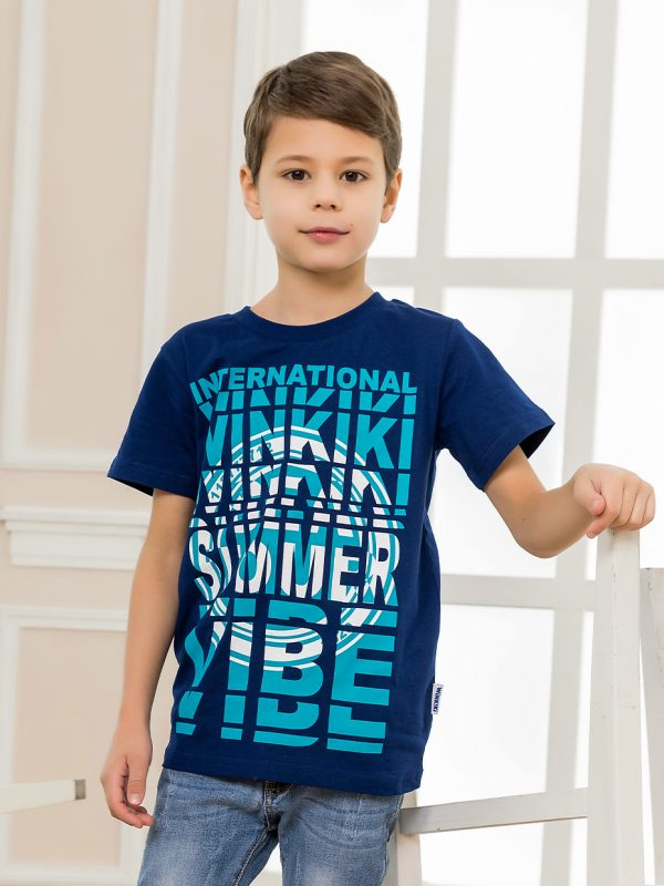 Chlapecké tričko Summer Vibe - NAVY Červená, Navy, Šedý melanž