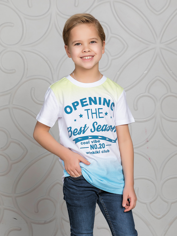 Chlapecké tričko Opening - bílá Bílá, Šedý melanž