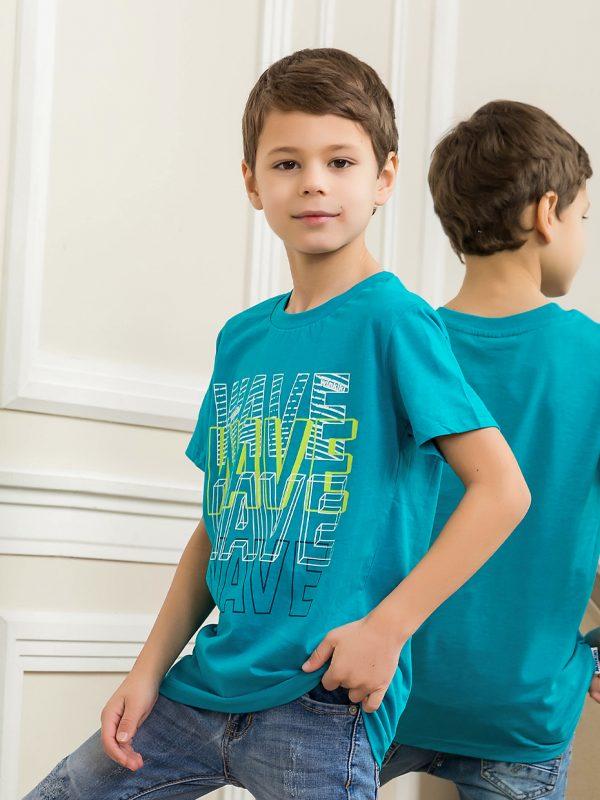 Chlapecké tričko WAVE - tyrkysová Tmavě modrá, Tyrkysová