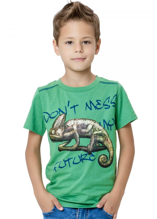 Chlapecké tričko Chameleon Zelená