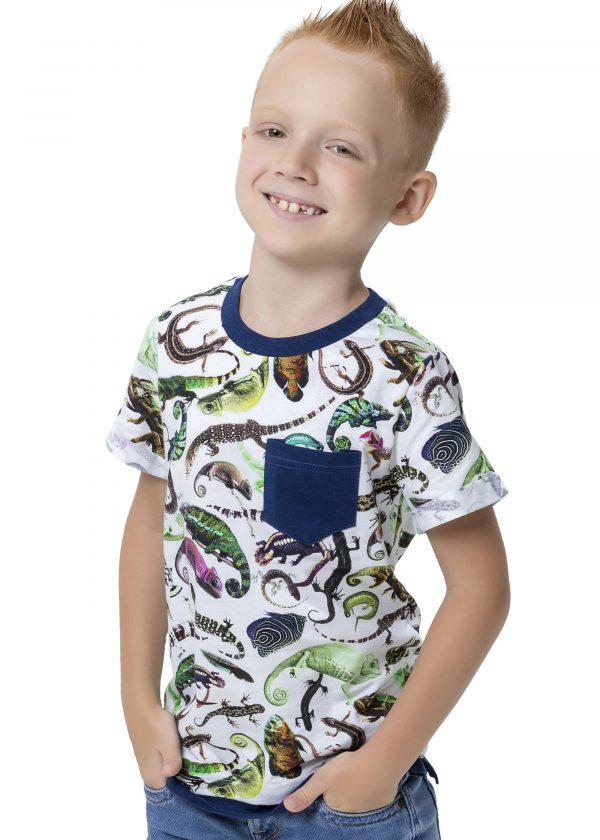 Chlapecké tričko Reptiles Béžová