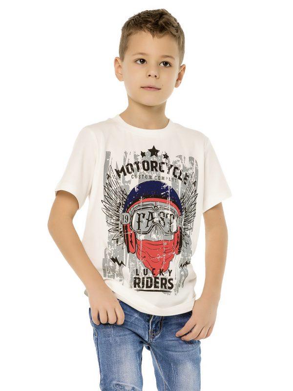 Chlapecké tričko Lucky Riders - bílá Bílá, Navy