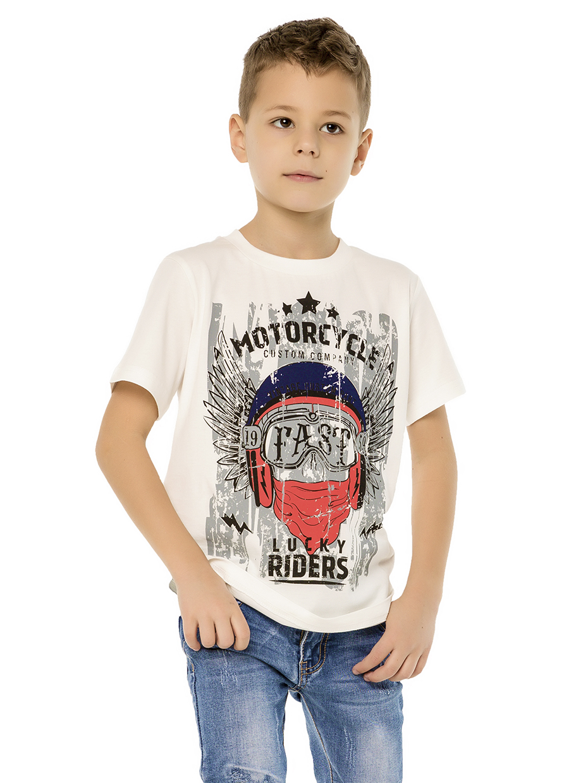 Chlapecké tričko Lucky Riders - NAVY Bílá, Navy