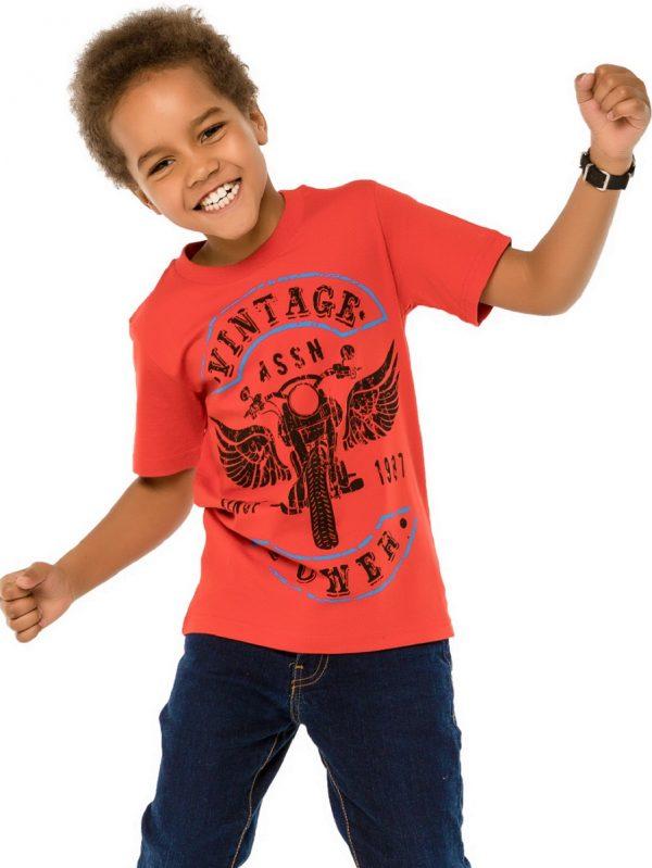 Chlapecké tričko Vintage - červená Červená, Modrá
