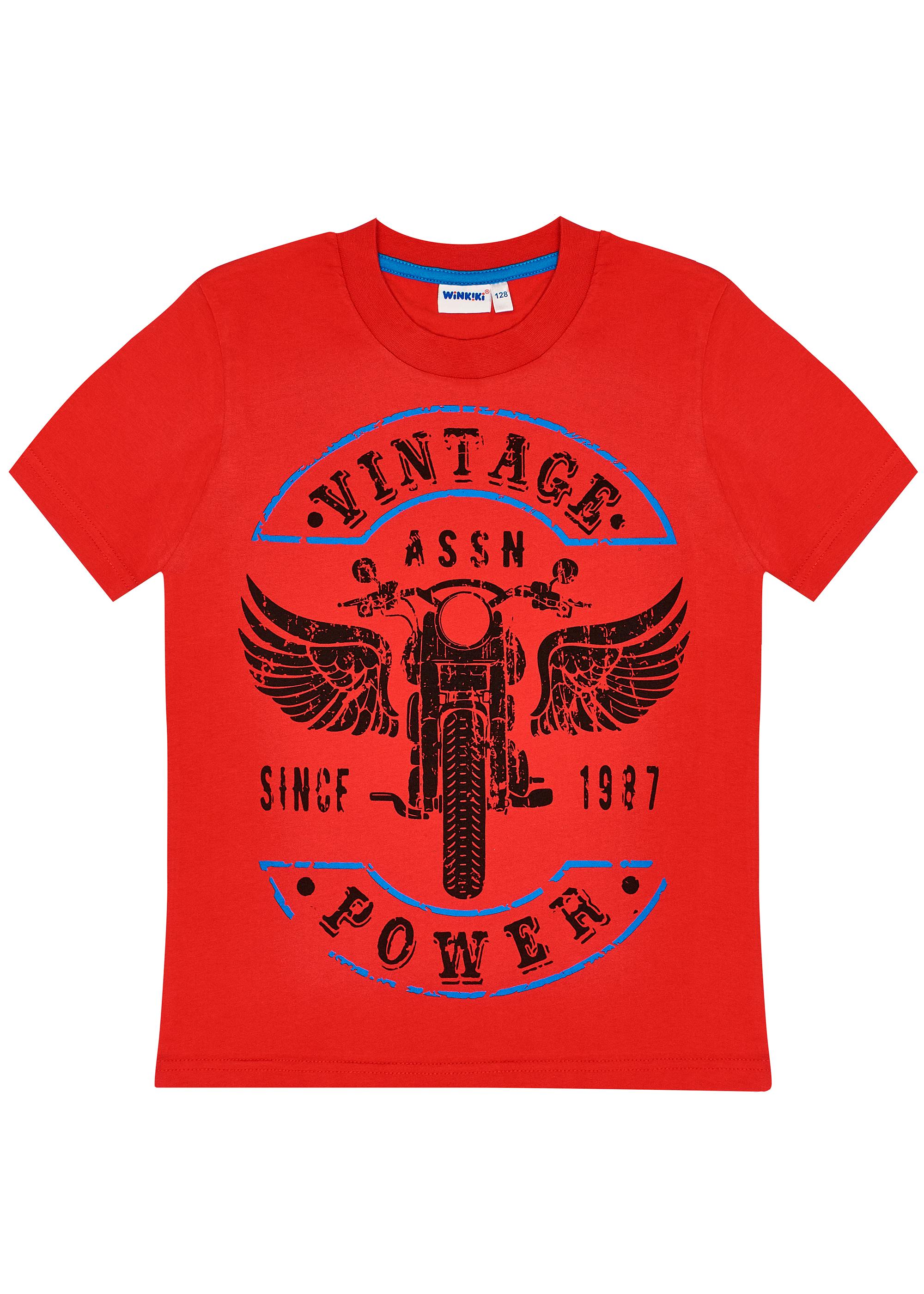 Chlapecké tričko Vintage - modrá Červená, Modrá