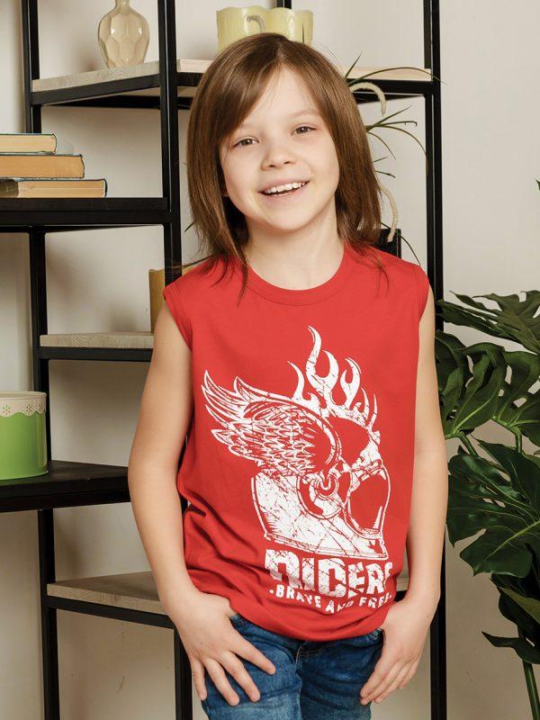 Chlapecké tričko Riders - červená Bílá, Černá, Červená